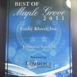 """2011 Best of Maple Grove"""