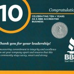 BBB 10-Year Commemoration Certificate
